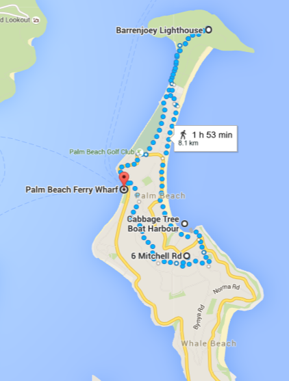 Palm Beach walk map