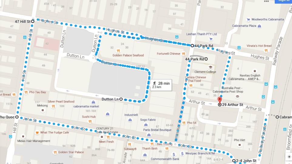 Cabramatta Walk Map