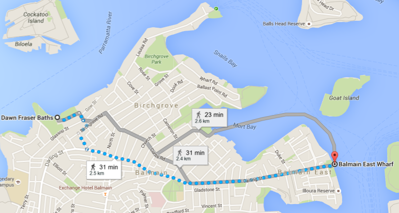 Balmain Walk Map