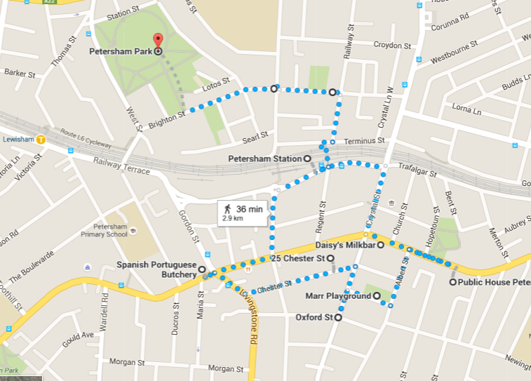 Petersham (Little Portugal) Walk Map