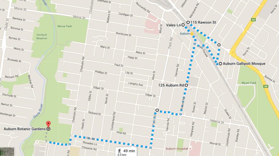 Auburn Walk Map