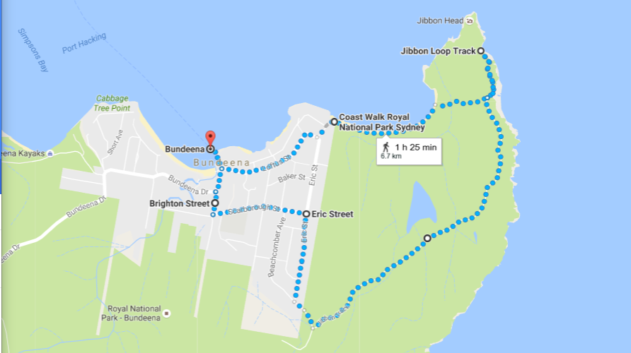 Bundeena Walk Map