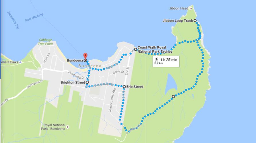 Bundeena Walk Map