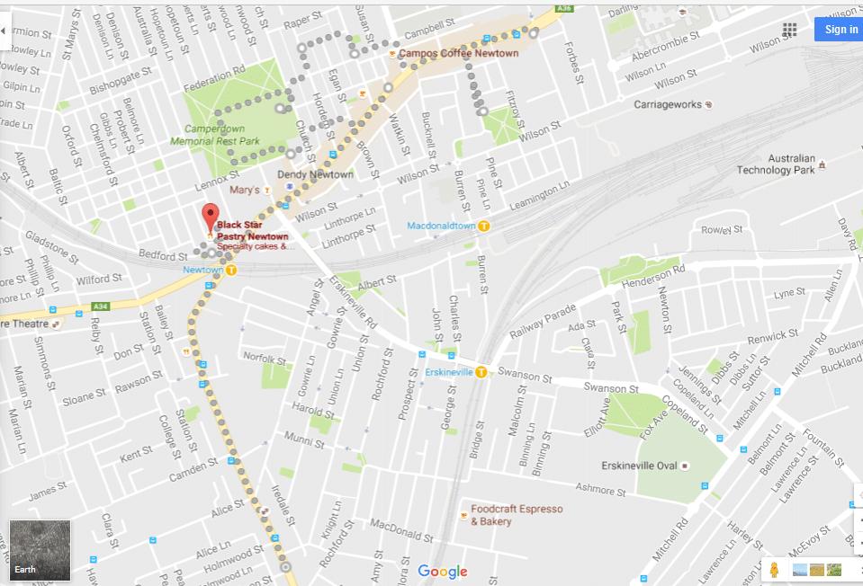Newtown Walk Map