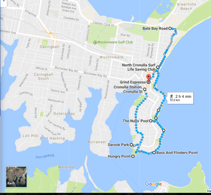 Cronulla Walk Map