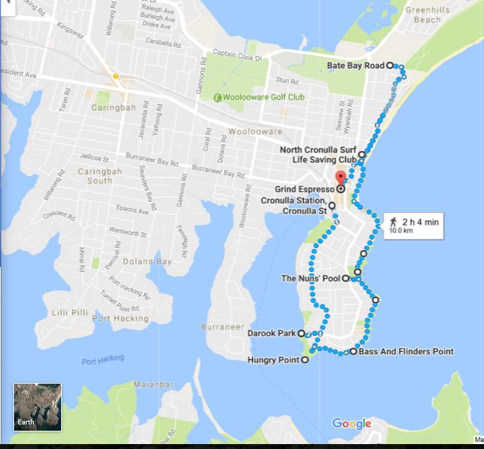 Cronulla Walk Map
