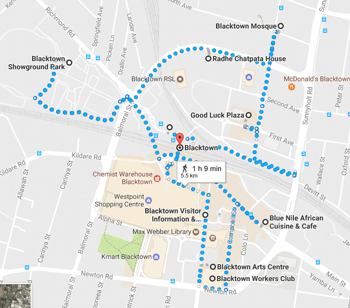 Blacktown Walk Map