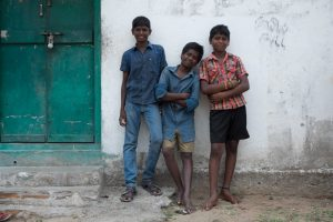 Village boys in India