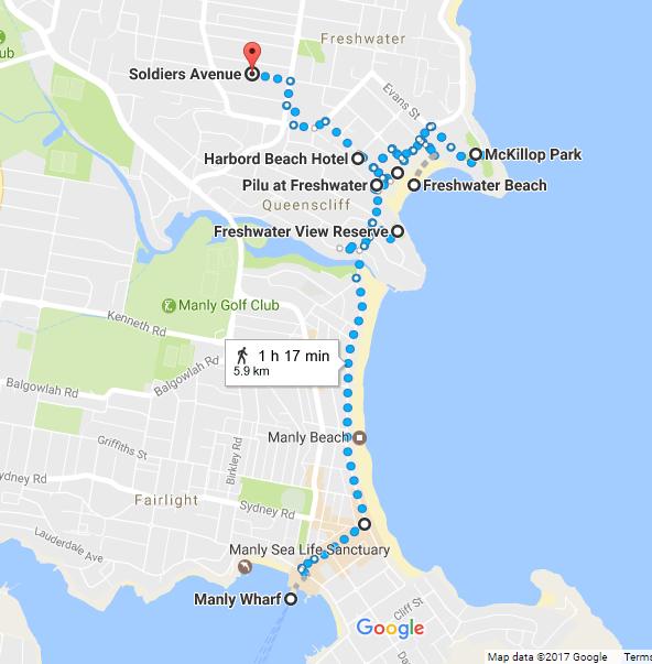Freshwater Walk Map
