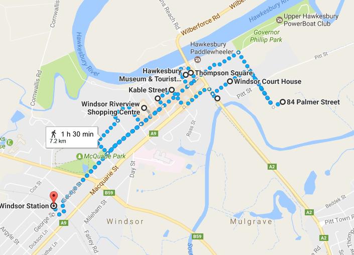 Windsor walk map