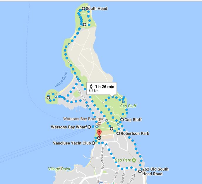 Watson's Bay Walk Map