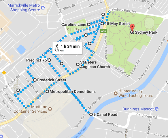 Walking map of St Peters