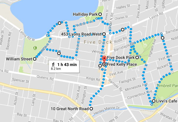 Five Dock Walk Map