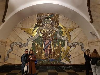 Stalin's Image Removed in Novoslobodskaya