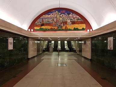 Moscow depicted in Trubnaya metro
