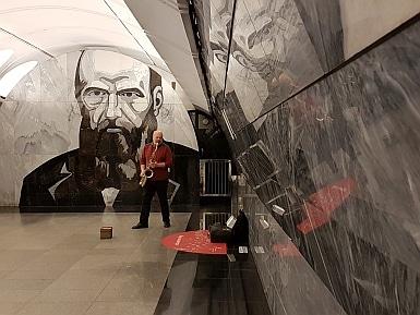 Saxophonist in Dostoyevskya Metro