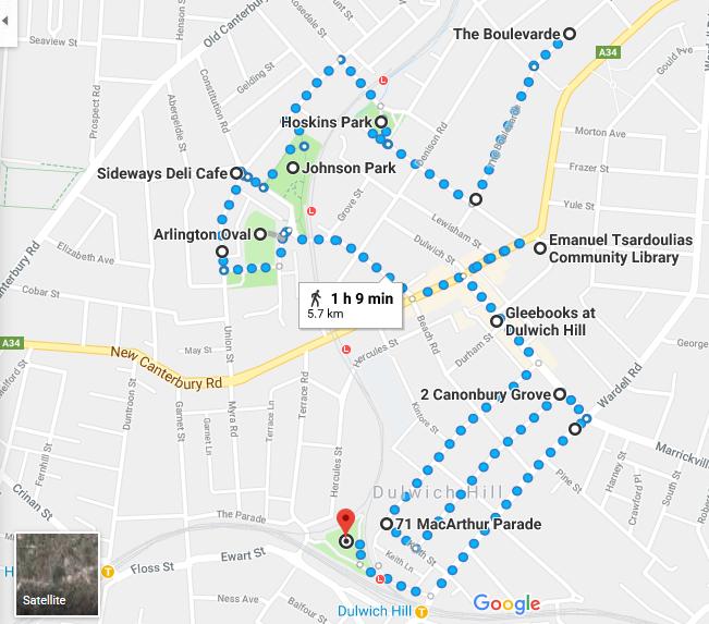 Dulwich Hill Walk Map