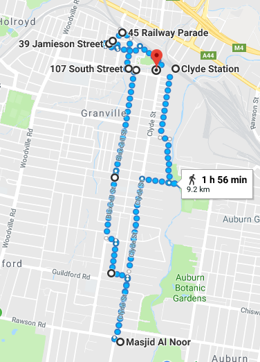Granville Walk Map