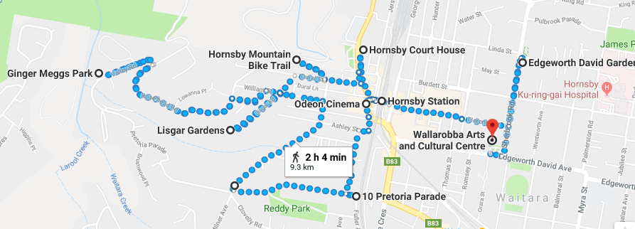 Hornsby Walk Map