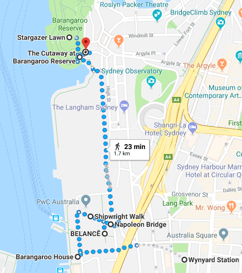 Barangaroo Walk Map