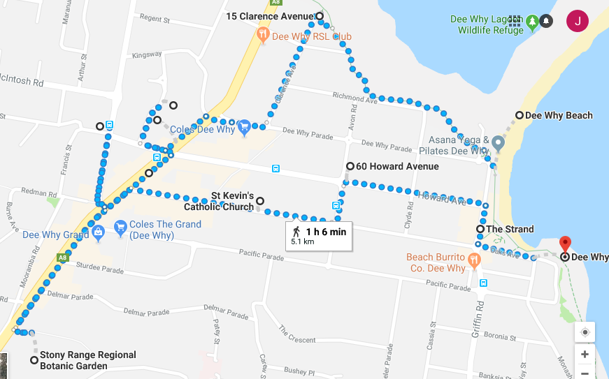 Dee Why Walk Map