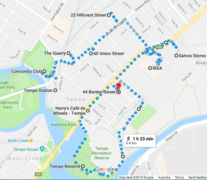 Tempe Walk Map