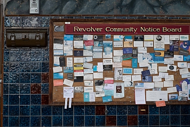 Revolver Cafe Notice Board