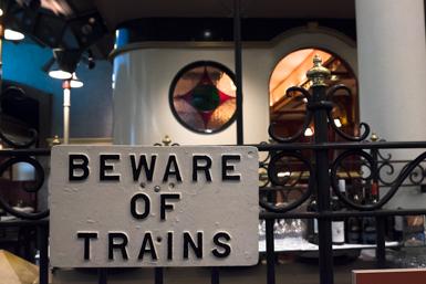 Railway memorabilia at Platform One