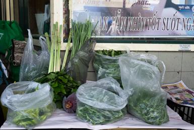 Home grown vegetables