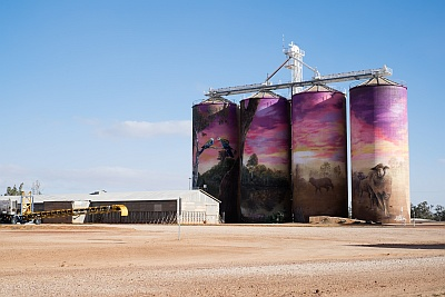 Thallon Painted Grain Silos