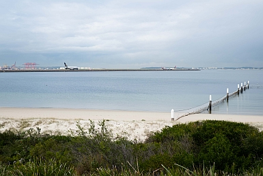 Looking Left to Port Botany