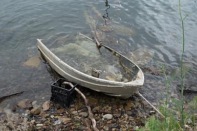Flooded boat Brooklyn