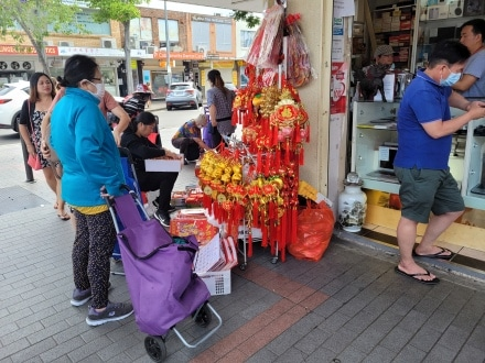 Shopping for Lunar New Year
