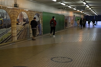 Devonshire Street Tunnel is usually bustling