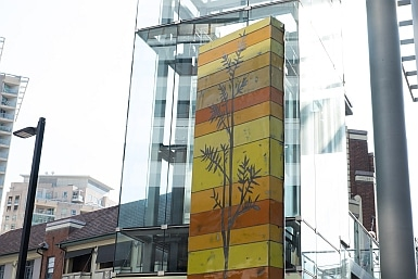 Artwork using recycled car panels