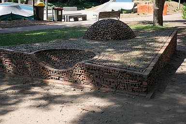 Artwork from Recycled Bricks