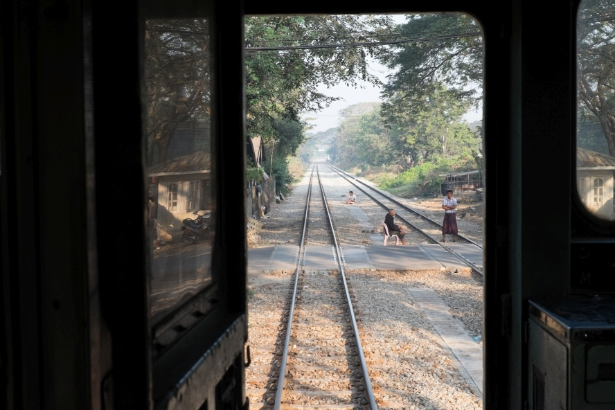 View from the Circle Line Train Yangon