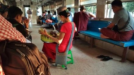 Food Vendor on the Yangon Circle Line