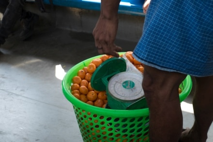 Fruit sold on the train in Yangon