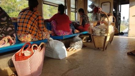 Passengers on the Yangon Circle Line