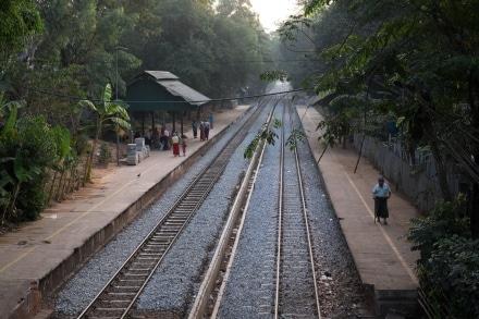 Lanmadaw Station on the Yangon Circle Line