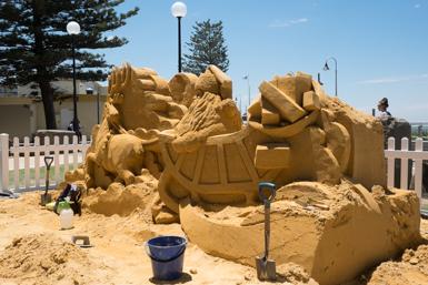 Sandcastle in Cronulla