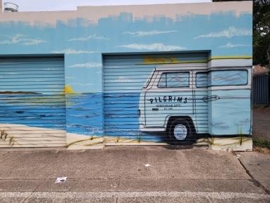 Beach Culture in Street Mural Cronulla