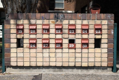Letterboxes in Five Dock