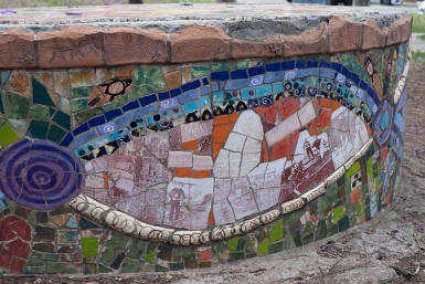 Community mosaic in Liverpool