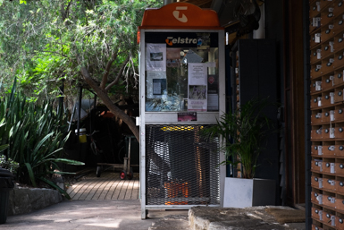 Enclosed Telstra Phone Booth