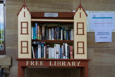Free Library Outside Kirribilli Neighbourhood Centre