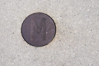 Letters in the concrete of Goods Line