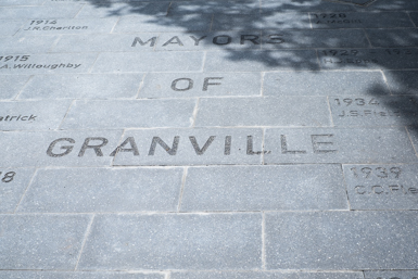 Upgraded footpath near Granville Town Hall
