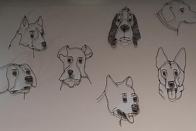 Wire Dogs at Hazelhurst Regional Gallery